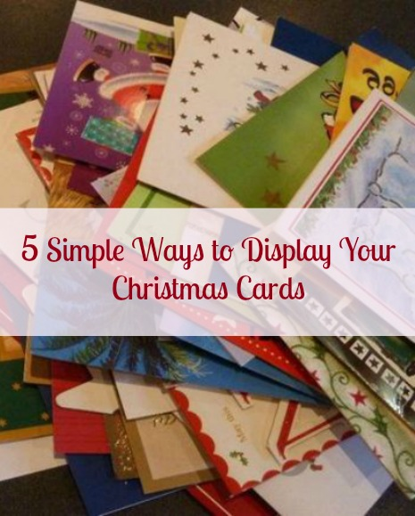 Chirstmas Card Display Holder Ideas