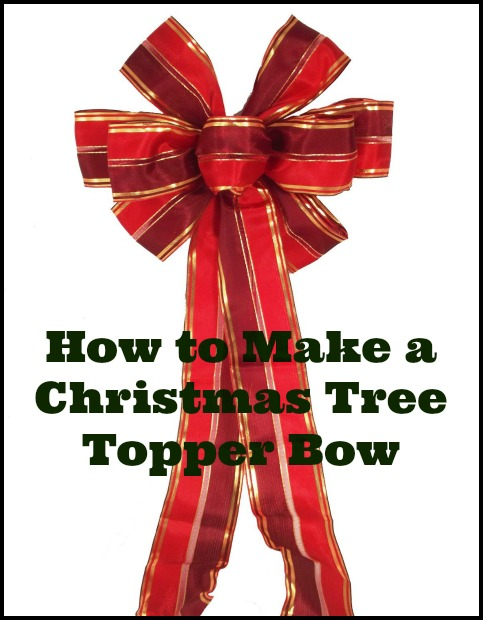 DIY christmas tree topper bow