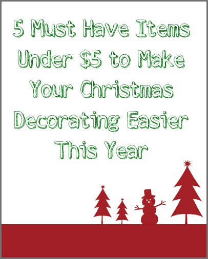 must have items for Christmas decorating