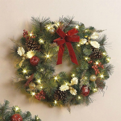 cordless led christmas wreath