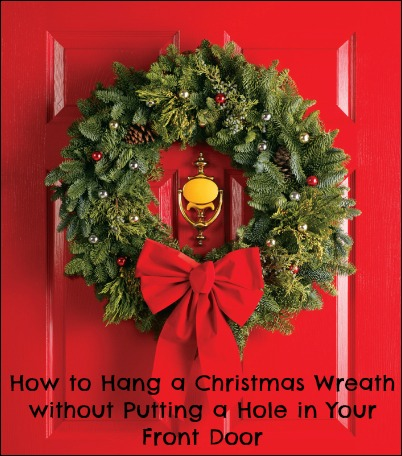 How to hang christmas wreath on door christmas decore How to hang garland on a christmas tree