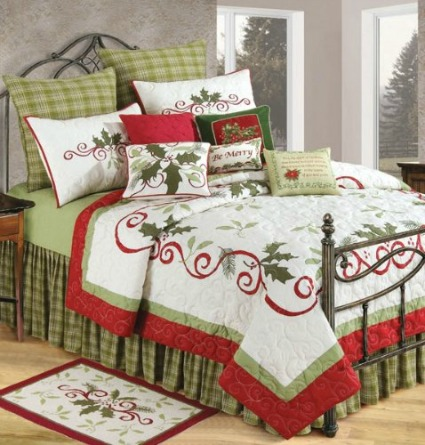 Christmas Bedding Sets. Home. Bedding. Product - Christmas King Size Duvet Cover Set, Pickup Truck Filed with Ornament Cold December Weather Snowflakes Merry Christmas, Decorative 3 Piece Bedding Set with 2 Pillow Shams, Multicolor, by Ambesonne. Product Image. Price .