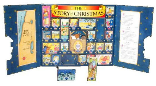 story of christmas advent calendar book