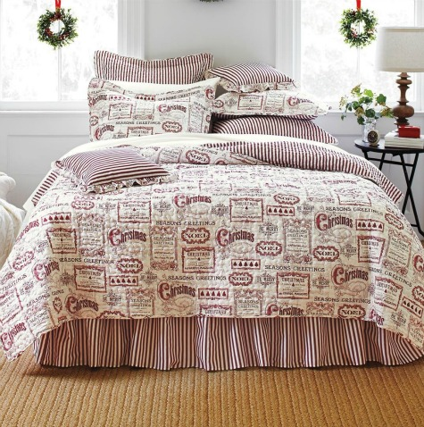 Christmas Comforters for Twin, Queen, & King Size Beds