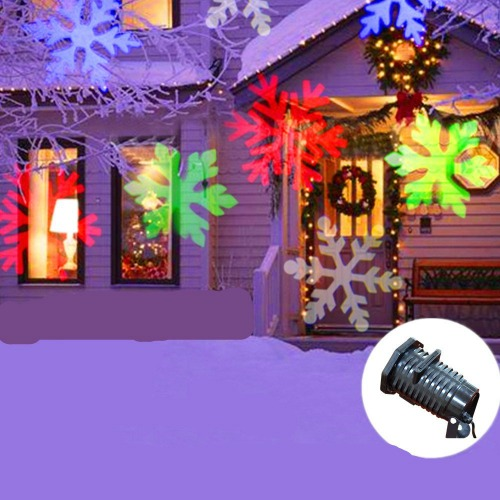 multi colored christmas light projector