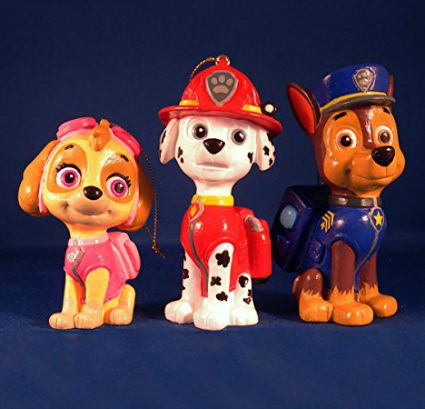 paw patrol ornament set