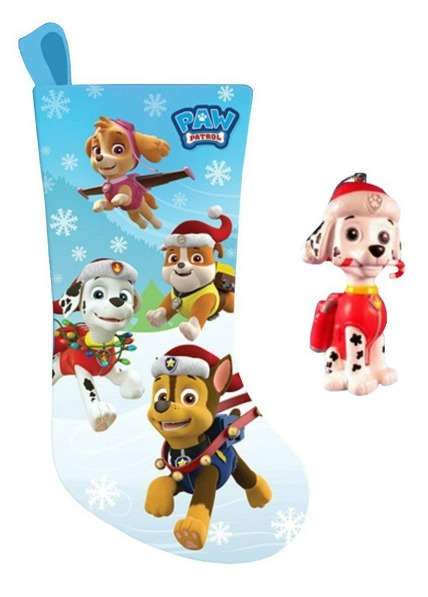 paw patrol stocking ornament gift set