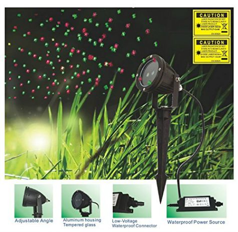 red and green laser light projector