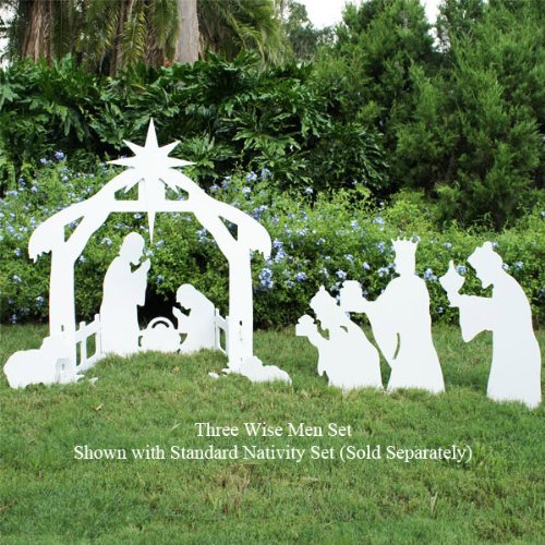 three wise men teak isle nativity set