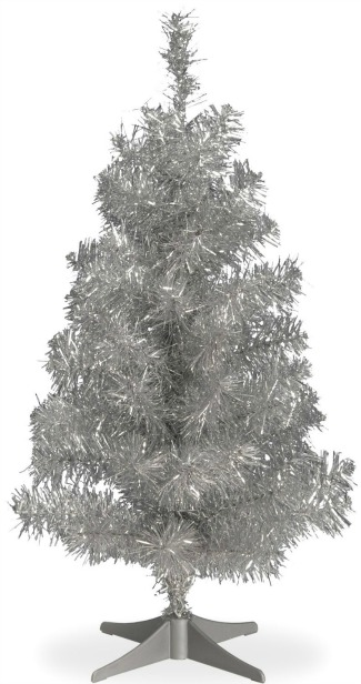 tinsel mini christmas tree
