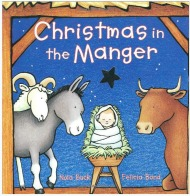 christmas in a manger board book