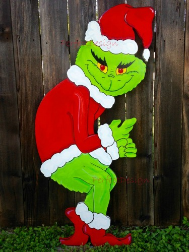 the grinch stealing christmas lights decoration