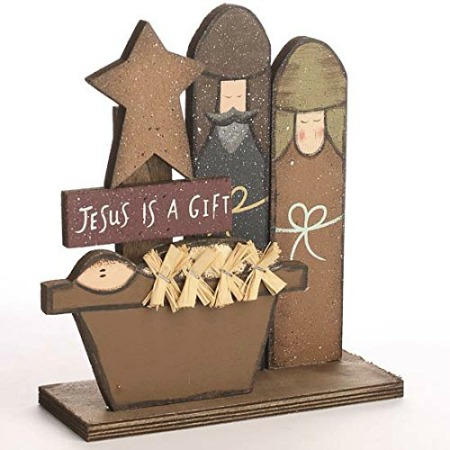 rustic nativity christmas decoration
