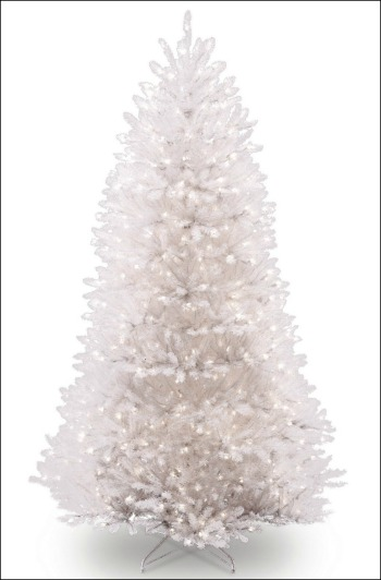 best artificial white christmas tree with lights