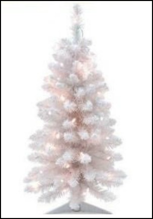 best small white artificial christmas tree