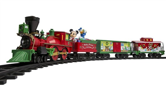 mickey mouse christmas train set