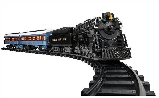 polar express christmas train set for under the tree