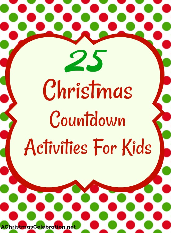 christmas countdown activities for kids