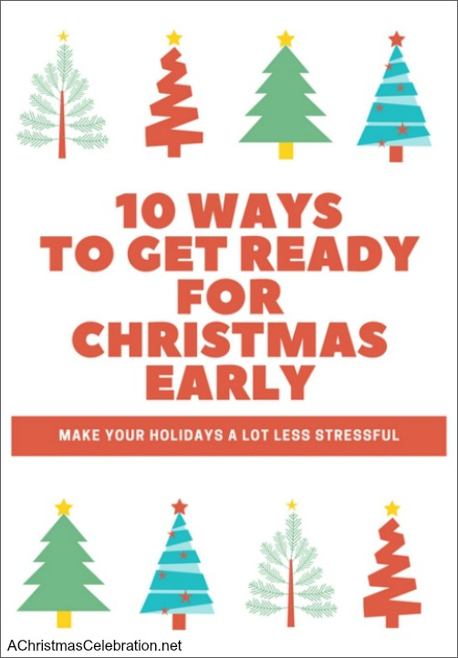 how to get ready for christmas early