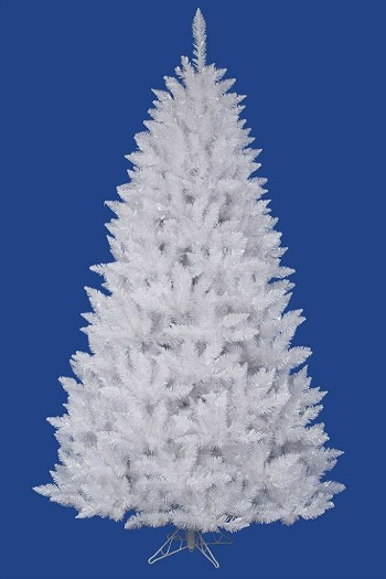 the best unlit artificial white christmas tree with no lights
